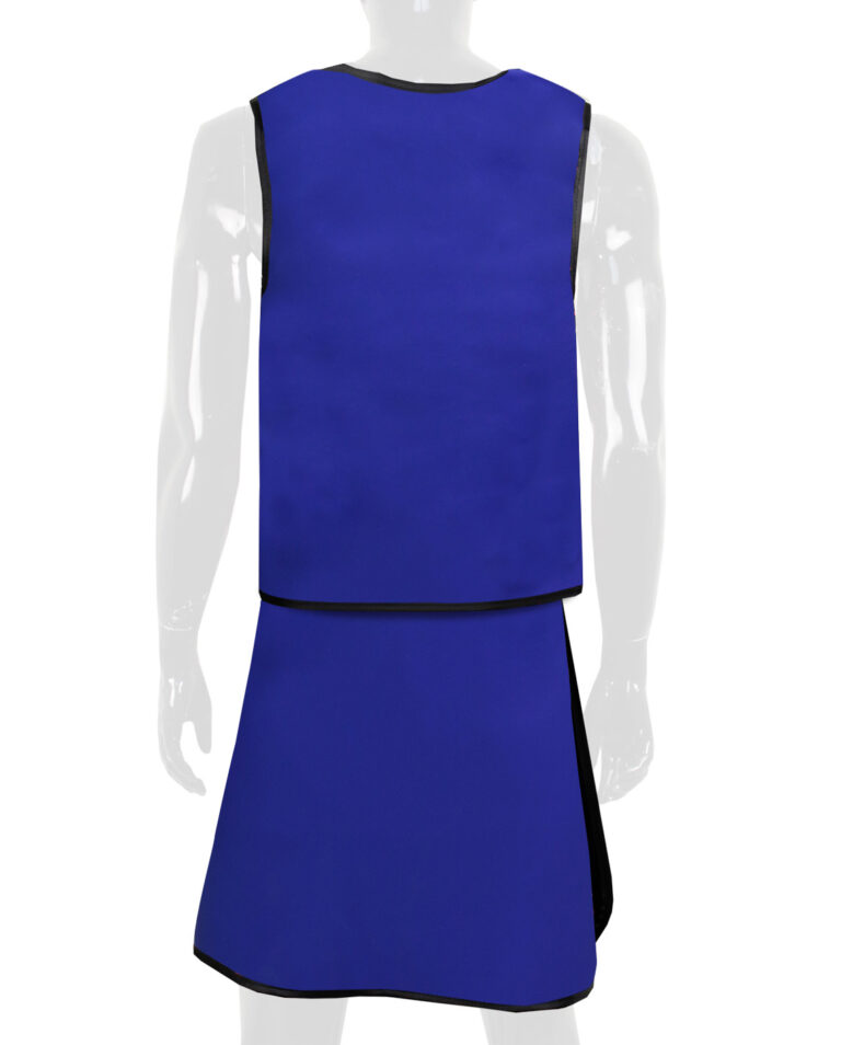 Attenutech Vest and Skirt Full Overlap Apron, Angled to the Back