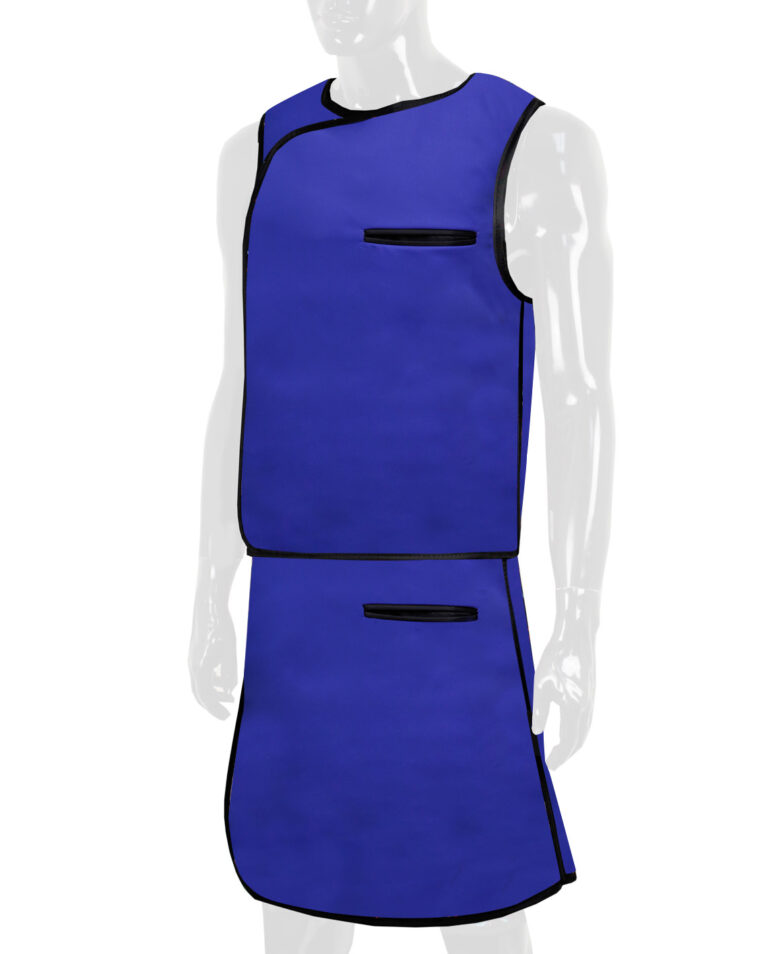 Attenutech Vest and Skirt Full Overlap Apron, Angled to the Front