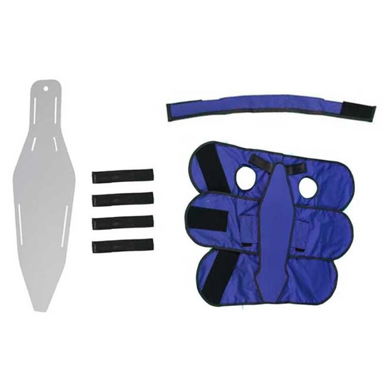 Small Radiolucent Papoose Board, MRI Safe, In Blue, Full Kit