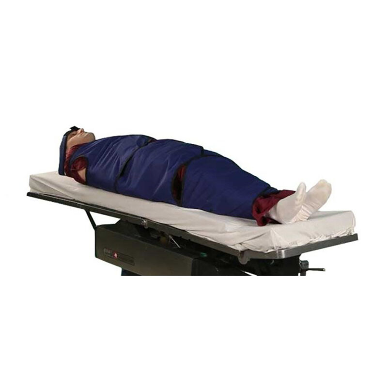 XL Radiolucent Papoose Board, MRI Safe, Angled to the Side Right