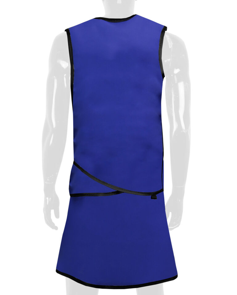 Vest and Skirt Apron, Angled to the Back