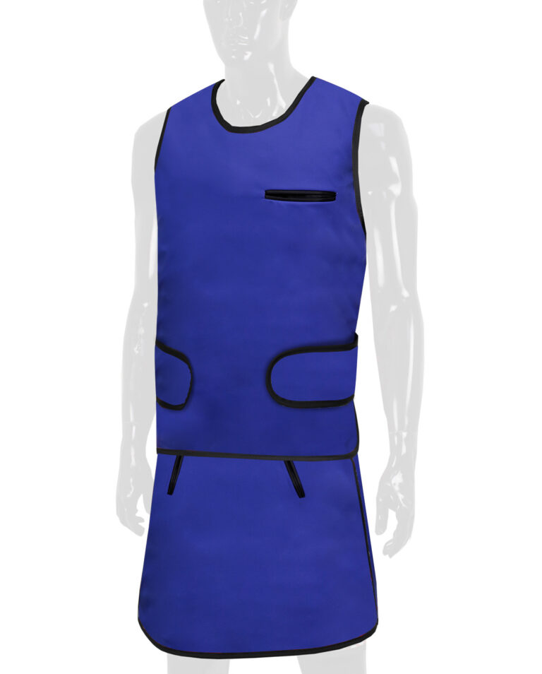 Vest and Skirt Apron, Angled to the Front