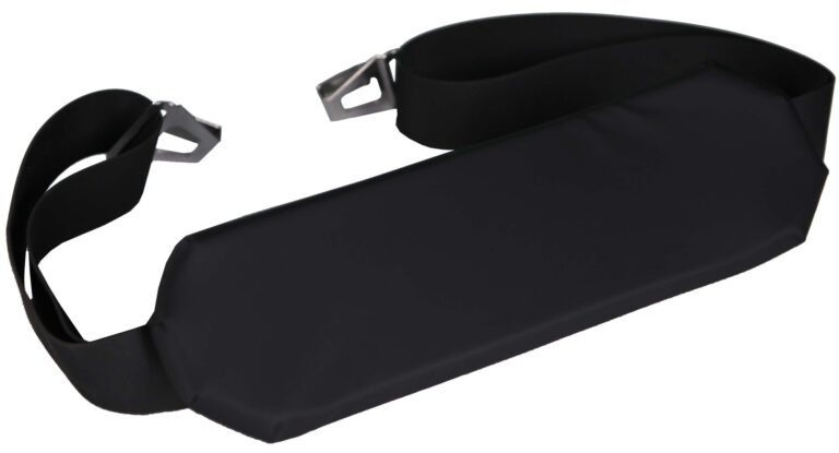 Airplane Safety Strap with Padded Mid Panel with Side Rail Clips 96 inch strap