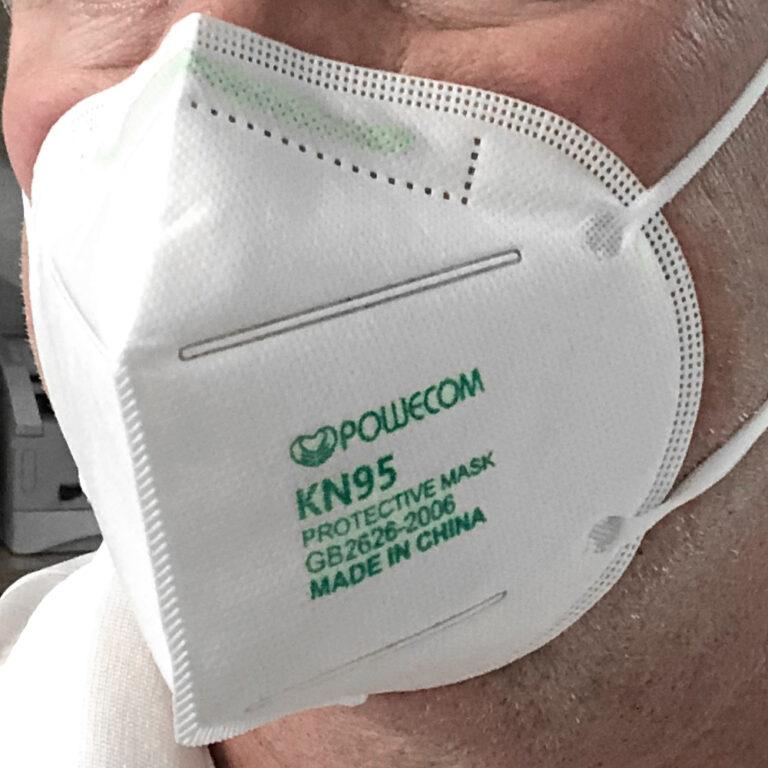 KN95 Ear Loop Mask In Use