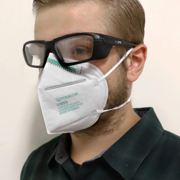 KN95 Headband Face Mask In Use