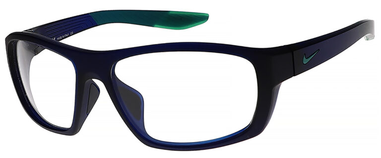 Nike Brazen Boost M Radiation Glasses in Matte Dark Obsidian Frame Side Left Angle