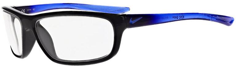 Nike Dash Radiation Glasses in Grand Purple Frame Side Left Angle