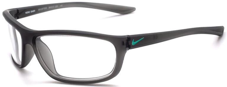 Nike Dash Radiation Glasses in Matte Anthracite Frame Side Left Angle