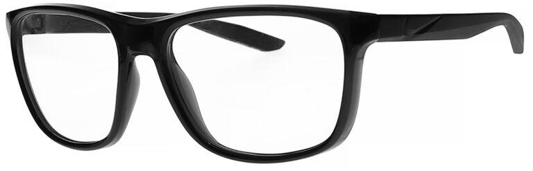 Nike Flip Ascent Radiation Glasses in Black Frame Side Left Angle