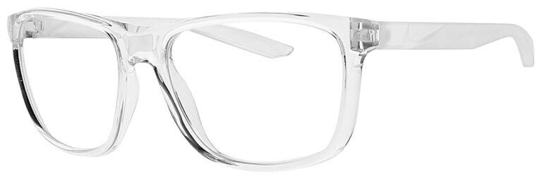 Nike Flip Ascent Radiation Glasses in Clear Frame Side Left Angle