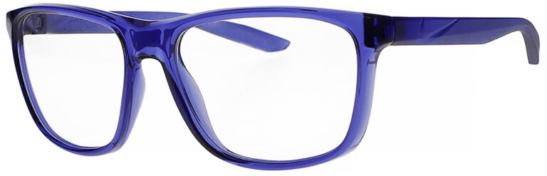 Nike Flip Ascent Radiation Glasses in Lapis Frame Side Left Angle