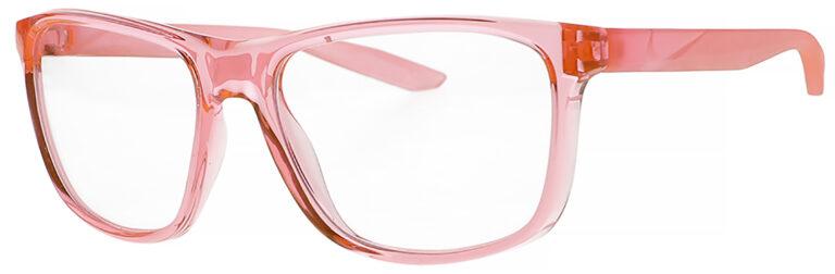 Nike Flip Ascent Radiation Glasses in Sunset Frame Side Left Angle