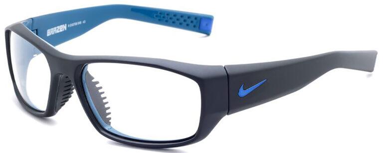 Radiation Glasses Nike Brazen in Matte Black/Military Blue Frame Side Left Angle
