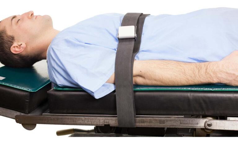 Rubber Patient Restraint Strap with 1 Buckle