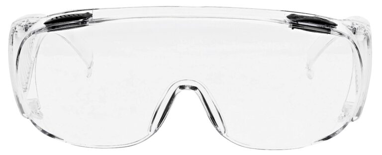 SP16 Safety Glasses in Clear Frame Front Angle