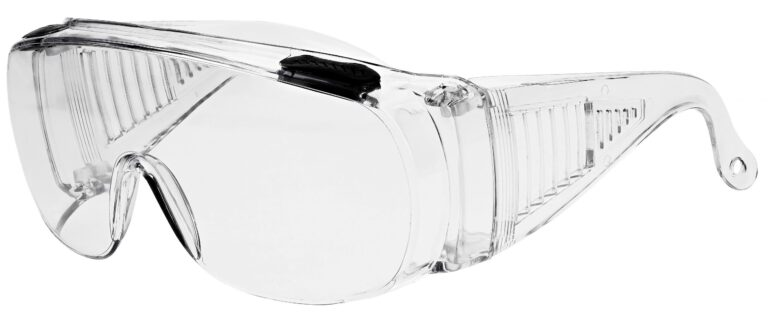 SP16 Safety Glasses in Clear Frame Side Left Angle